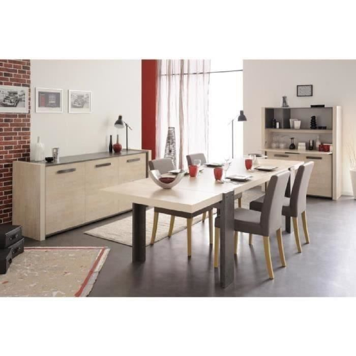 Salle manger compl te beige achat vente salle for Achat salle a manger complete