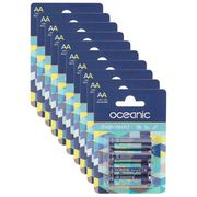 PILES OCEANIC 10 Packs de 4 Piles LR6 AA 1.5V High-Tech