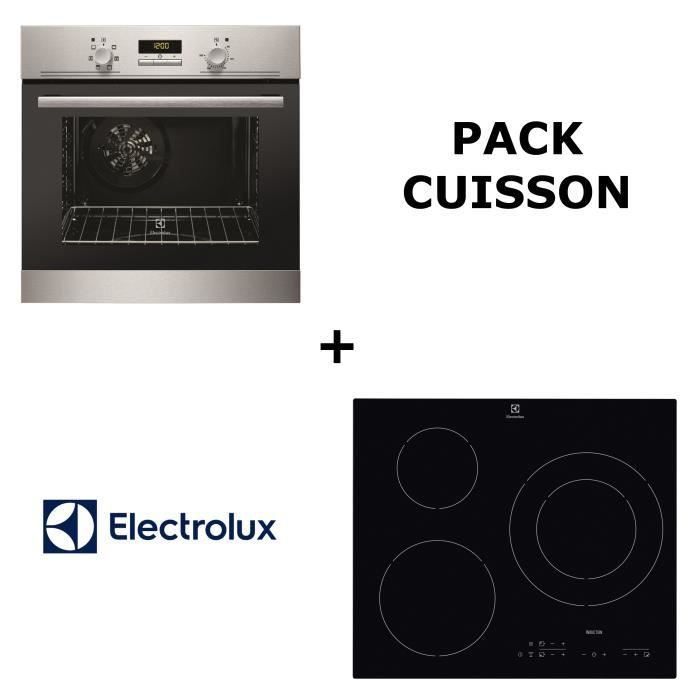 electrolux pack cuisson four multifonction pyrolyse table de cuisson induction achat. Black Bedroom Furniture Sets. Home Design Ideas