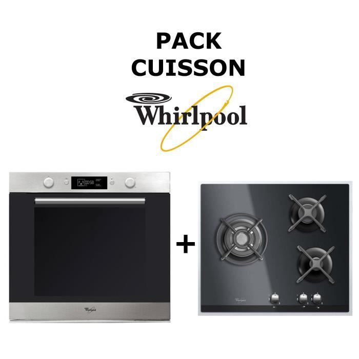 pack cuisson whirlpool four catalyse 73l table de cuisson gaz achat vente lot appareil. Black Bedroom Furniture Sets. Home Design Ideas