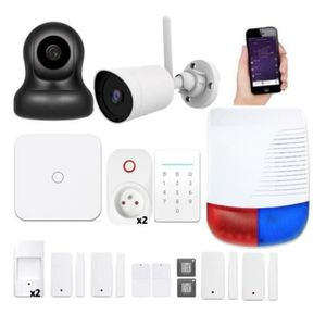 KIT ALARME NEW DEAL Pack Alarme maison LAN / WIFI / GSM Live