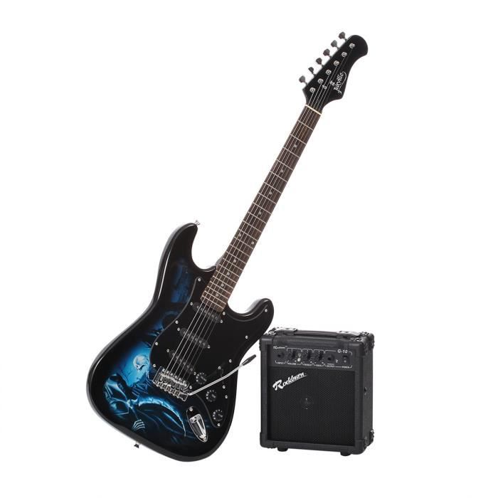 jaxville pack complet guitare electrique bleu pas cher. Black Bedroom Furniture Sets. Home Design Ideas