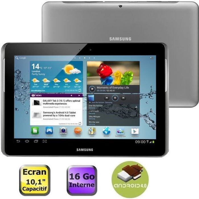 informatique tablettes tactiles ebooks samsung galaxy tab  wifi go silver f gtptsaxef