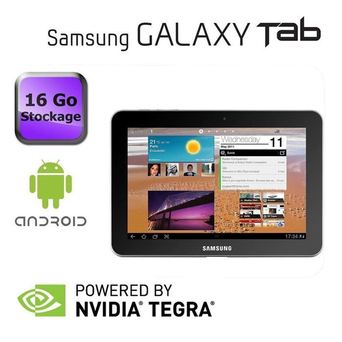 samsung galaxy tab 8 9 wifi 16 go blanc prix pas cher. Black Bedroom Furniture Sets. Home Design Ideas