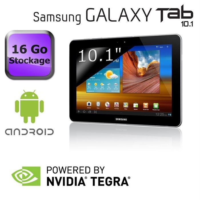 samsung galaxy tab 10 1 wifi 16 go blanc prix pas cher cdiscount. Black Bedroom Furniture Sets. Home Design Ideas