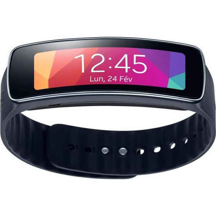 samsung galaxy montre connect e gear fit r3500 noir. Black Bedroom Furniture Sets. Home Design Ideas
