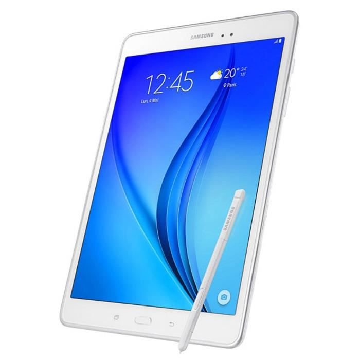 samsung galaxy tab a 9 7 16 go wifi blanc stylet prix. Black Bedroom Furniture Sets. Home Design Ideas