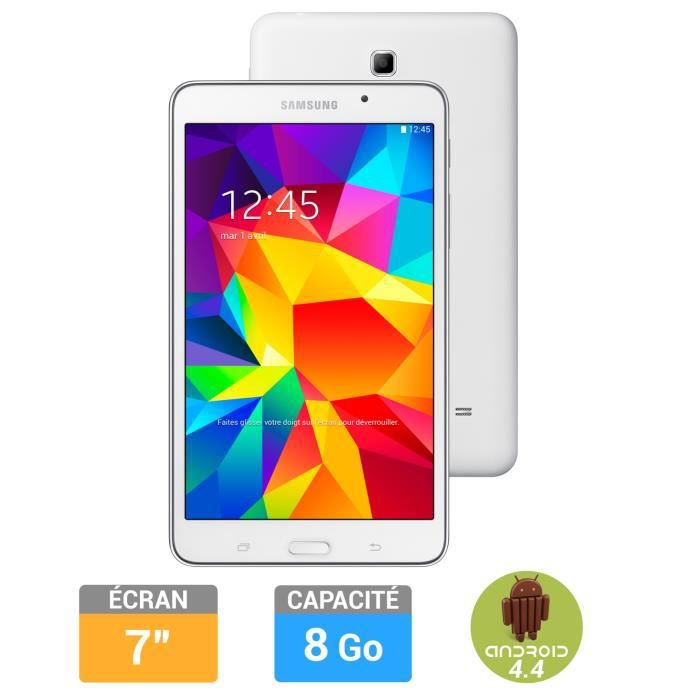 samsung galaxy tab 4 7 39 39 blanche 8go achat vente tablette tactile galaxy tab 4 7 39 39 8go. Black Bedroom Furniture Sets. Home Design Ideas
