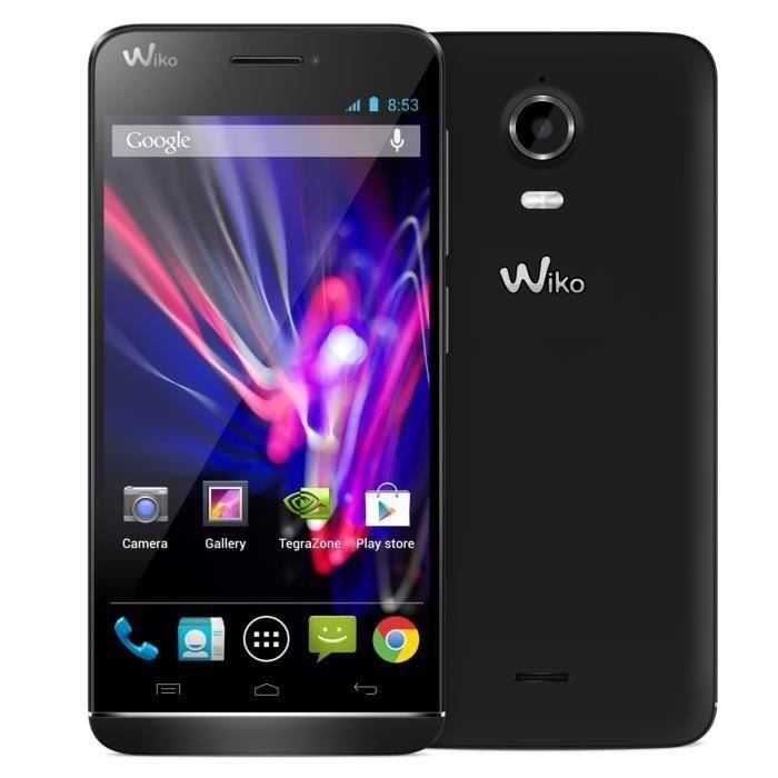 wiko wax noir 4g achat smartphone pas cher avis et. Black Bedroom Furniture Sets. Home Design Ideas