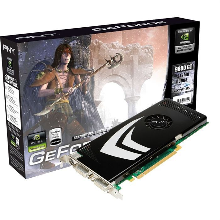 CARTE GRAPHIQUE INTERNE PNY GeForce 9800 GT 512 Mo