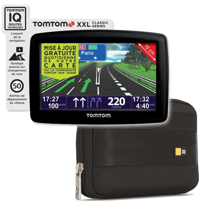 Gps tomtom xxl classic europe housse case logic achat for Housse tomtom xxl