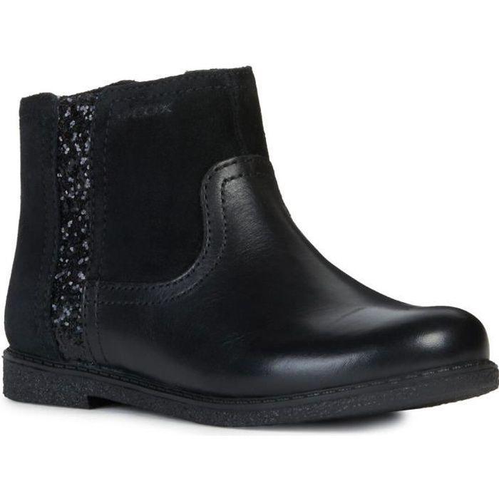 nouveaux styles meilleur prix pour Garantie de satisfaction à 100% GEOX Bottine J Shawntel Noir Enfant Fille