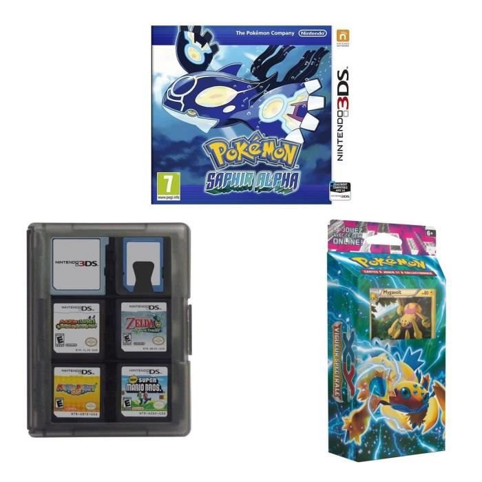 pokemon alpha saphir 3ds boitier rangement 3ds starter xy4 achat vente jeu 3ds pokemon. Black Bedroom Furniture Sets. Home Design Ideas