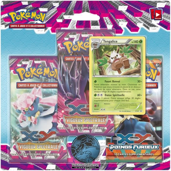 Pokemon pack 3 boosters xy 4 vigueur spectrale achat vente carte a collectionner cdiscount - Cart pokemon xy ...