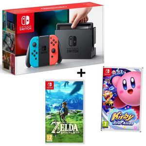 CONSOLE NINTENDO SWITCH Pack NINTENDO Console Switch Joy-Cons Neon rouge e