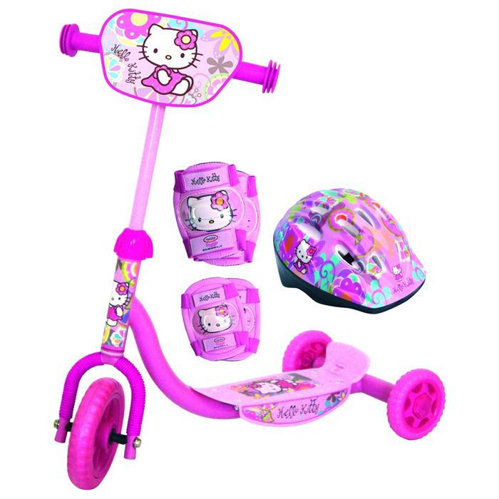 trottinette 3 roues hello kitty achat vente. Black Bedroom Furniture Sets. Home Design Ideas