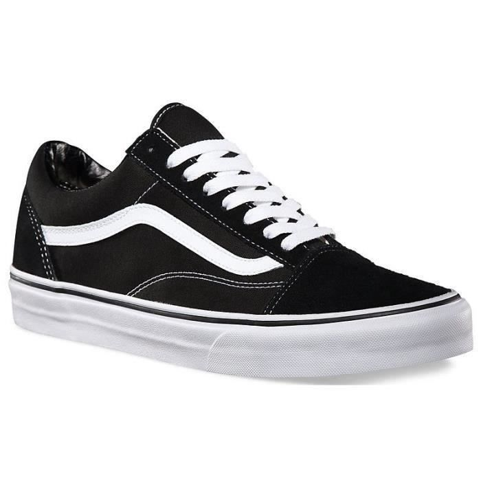 vans old skool noir et blanche carreau