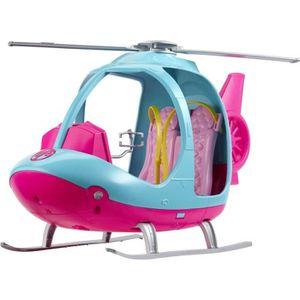 MAISON POUPÉE BARBIE Hélicoptère 2 places avec hélice rotative