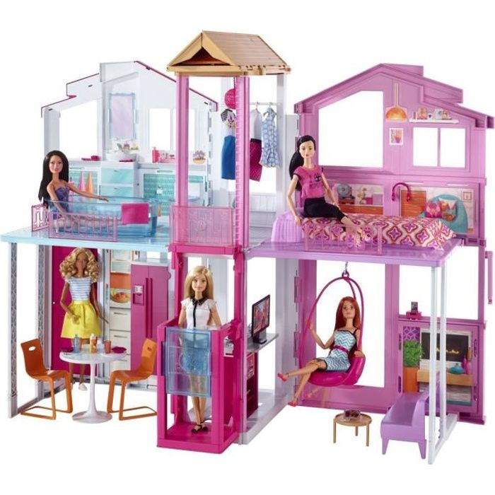 barbie maison de luxe achat vente accessoire poup e cdiscount. Black Bedroom Furniture Sets. Home Design Ideas