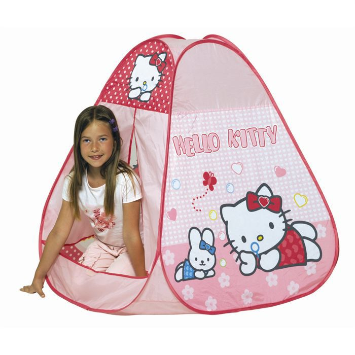 tente enfant hello kitty fille rose achat vente tente tunnel d 39 activit cdiscount. Black Bedroom Furniture Sets. Home Design Ideas