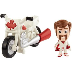 FIGURINE - PERSONNAGE TOY STORY 4 - Mini-figurine Duke Caboom et sa moto