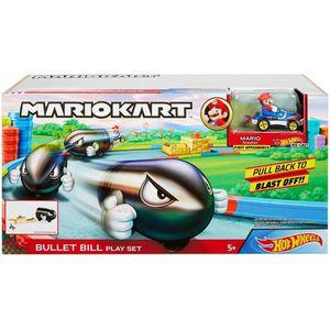 CIRCUIT HOT WHEELS Mario Kart Lanceur Bullet Bill Balle