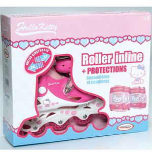 ROLLER IN LINE Hello kitty roller en ligne + protections