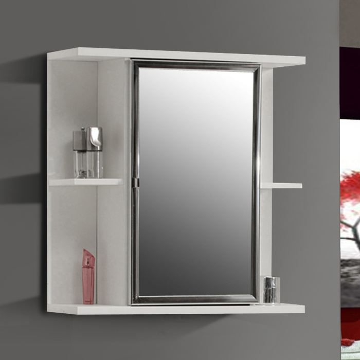 champ pharmacie miroir blanc mat et blanc brillant achat. Black Bedroom Furniture Sets. Home Design Ideas