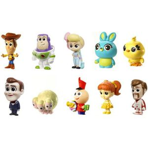 FIGURINE - PERSONNAGE TOY STORY 4 - Pack 10 Mini-Figurines 3,8cm à colle