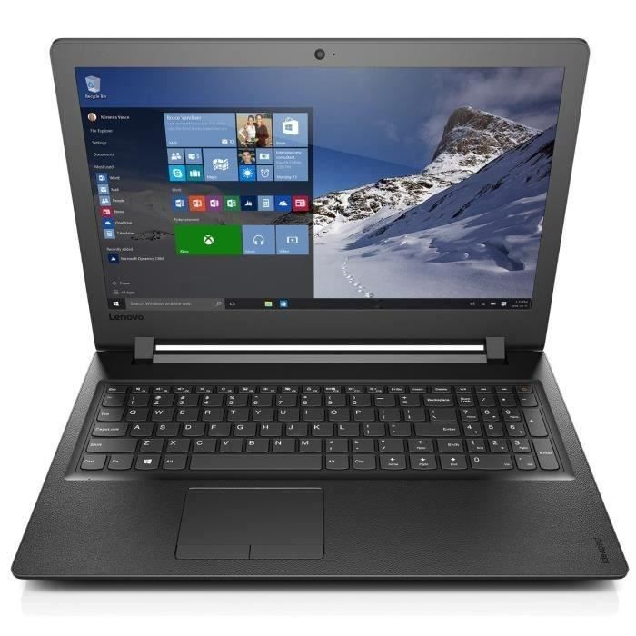 lenovo pc portable ideapad 110 15acl 15 6 39 39 hd 4 go de ram windows 10 amd e1 amd. Black Bedroom Furniture Sets. Home Design Ideas