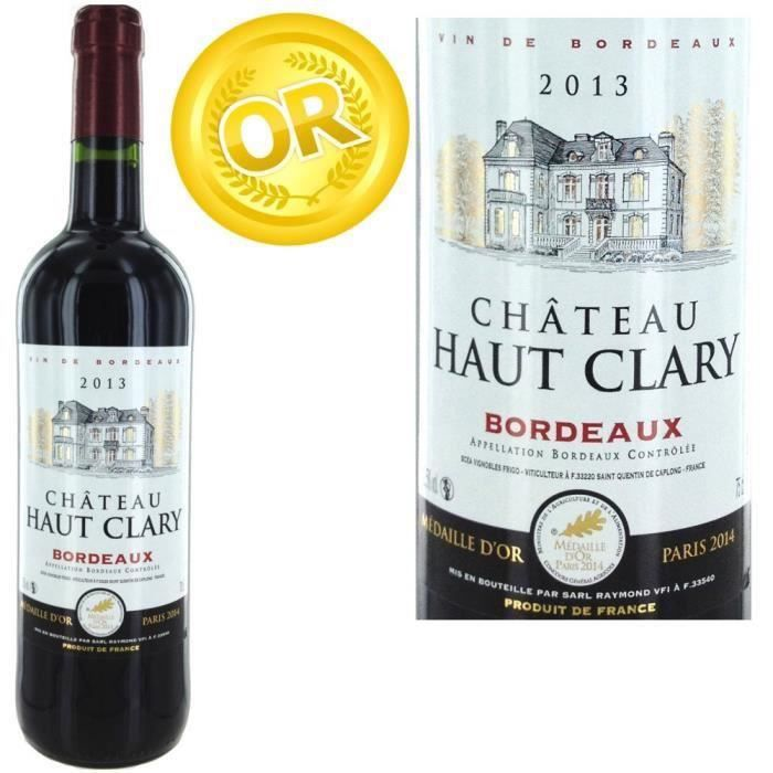 destockage ch teau haut clary 2013 bordeaux rouge x1 vin rouge au meilleur prix cdiscount. Black Bedroom Furniture Sets. Home Design Ideas