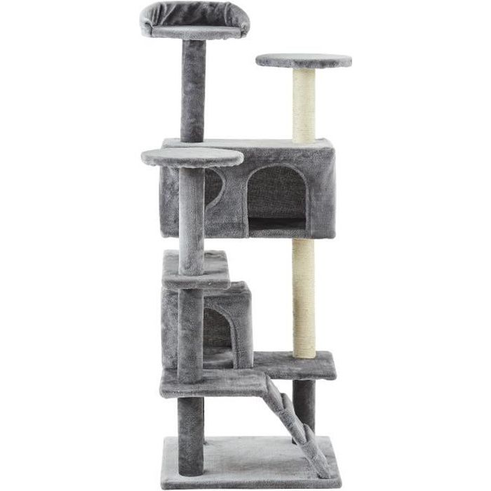 ARBRE À CHAT Arbre à chat Samy - 50x50x125cm - Gris