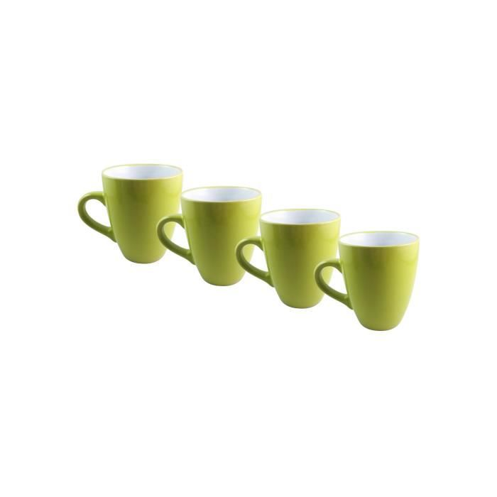finlandek lot de 4 mugs bicolore hapanimela 32 cl vert anis achat vente bol mug mazagran. Black Bedroom Furniture Sets. Home Design Ideas