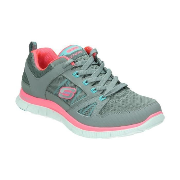 Rose Femme Et Appeal Skechers Flex Chaussures Baskets Achat Gris axqwI0zO 7aad437ff0e
