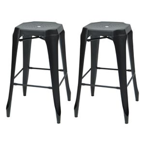 tabouret de bar industriel achat vente tabouret haut pas cher cdiscount. Black Bedroom Furniture Sets. Home Design Ideas