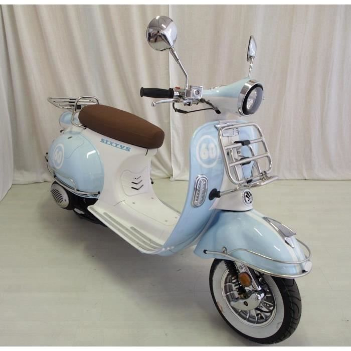 vastro scooter 125cc sixtys 4 temps blanc et bleu achat vente scooter vastro 125 sixtys. Black Bedroom Furniture Sets. Home Design Ideas