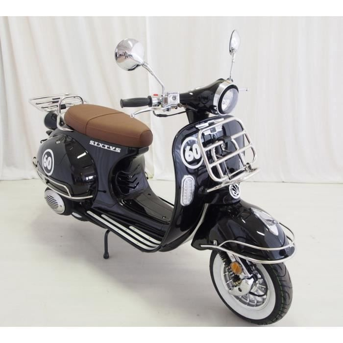 vastro scooter 50cc sixtys 4 temps noir achat vente scooter vastro 50 sixtys noir cdiscount. Black Bedroom Furniture Sets. Home Design Ideas
