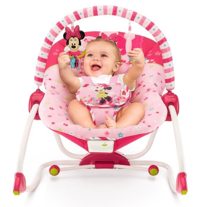 Minnie transat volutif disney baby rose achat vente for Transat exterieur pas cher