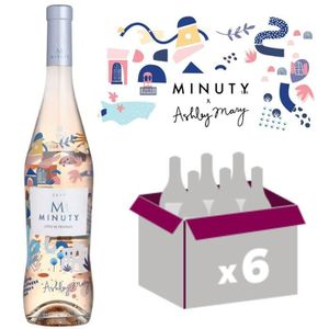 VIN ROSÉ M Minuty 2017 Ashley Mary Série Limitée 75cl x6