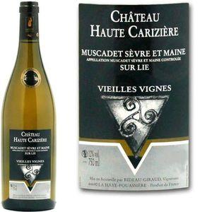 VIN BLANC Château Haute Carizière 2015 Muscadet Sèvre et Mai