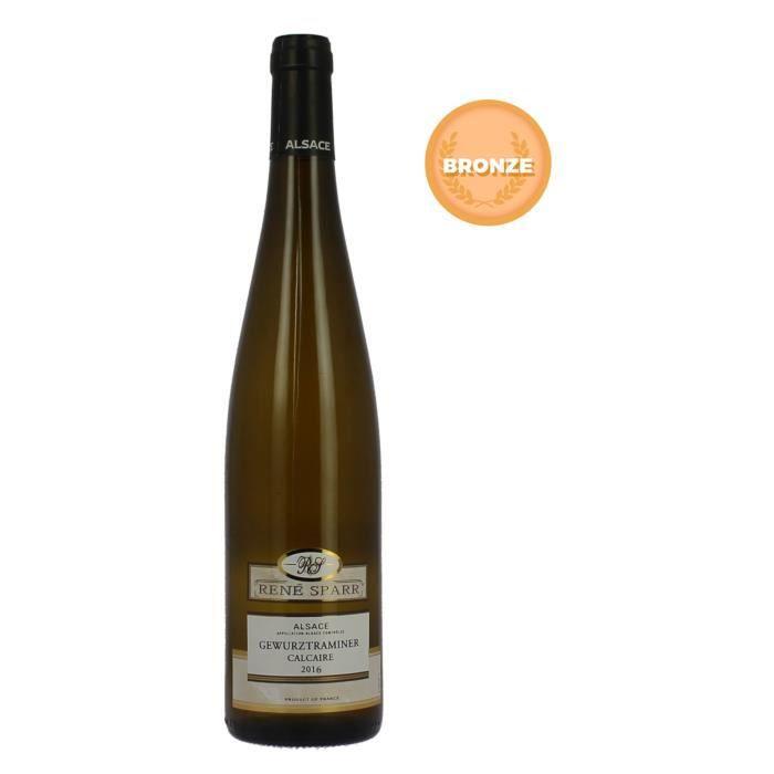 VIN BLANC René Sparr 2016 Gewurztraminer - Vin blanc d'Alsac