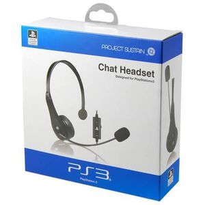 CASQUE AVEC MICROPHONE 4GAMERS Casque Chat Headset PS3