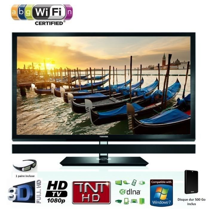 toshiba 55zl1 tv direct led 3d 140 cm t l viseur led prix pas cher cdiscount. Black Bedroom Furniture Sets. Home Design Ideas