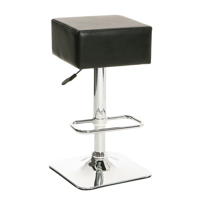 carre tabouret de bar noir achat vente tabouret de bar cdiscount. Black Bedroom Furniture Sets. Home Design Ideas