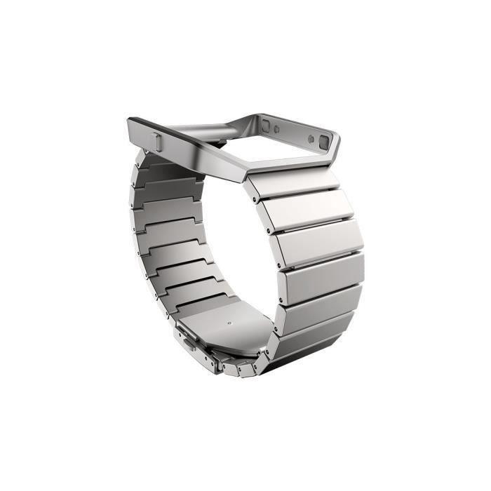BRACELET MONTRE CONNEC. FITBIT Bracelet Collection Métal pour BLAZE - Inox